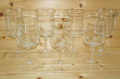 Lenox Intrigue Gold Trim (7) Water Goblets, 7 1/4""