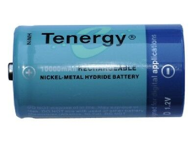 2-Pack D Tenergy NiMH Rechargeable Batteries (10000 mAh)