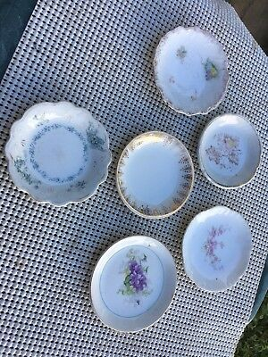 Lot Of 6 Vintage Porcelain Butter Pat Dishes - 1 From Handley England Lot 1