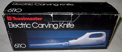 Toastmaster Electric Carving Knife 6110 with Original Box and Instructions
