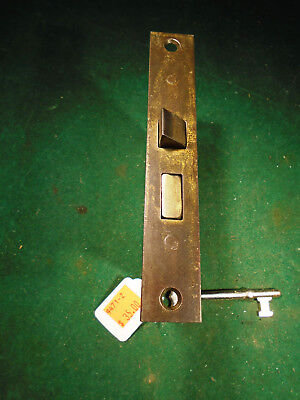 "VINTAGE PENN HARDWARE MORTISE LOCK w/KEY - 5 3/8"" FACEPLATE REBUILT (9471-2)"