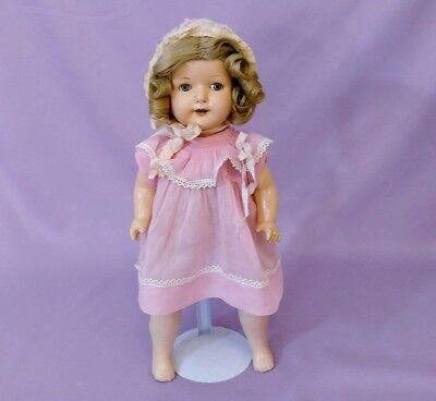 """LOVELY 17"""" COMPOSITION  ROSEMARY DOLL by EFFANBEE  c1920"""