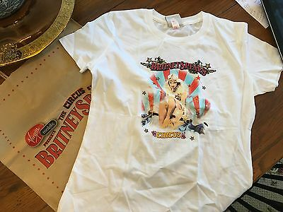BRITNEY SPEARS 2009  Circus tour shirt 2-sided Large with promo bag NEW