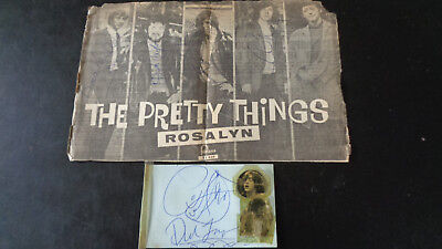 The Pretty Things Autographs..magazine Ad And Book Page