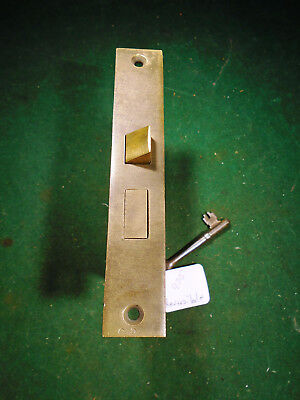 "VINTAGE RUSSWIN MORTISE LOCK w/ KEY - 5 1/4"" faceplate: RECONDITIONED! (9715)"