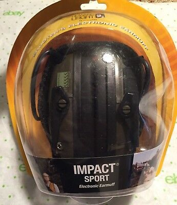 New Howard Leight R-01526 Impact Sport Elect. Earmuff Olive Green FREE PRIORITY