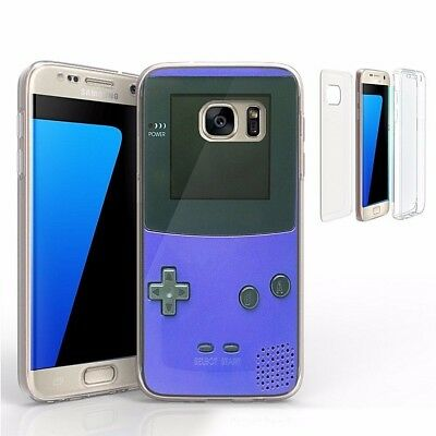 For Galaxy S7 G930 Transparent Full Body Protector Case Game Boy Controller NES
