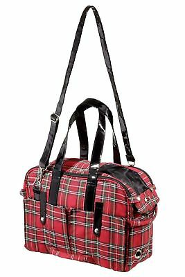 Karlie Dog CarryBag  Scotland Carrier Pet Transporter New 35 RED TARTAN