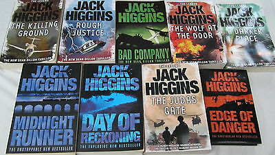 JACK HIGGINS- 9 of His BESTSELLERS- incl. SEAN DILLON THRILLERS+THE JUDAS GATE++