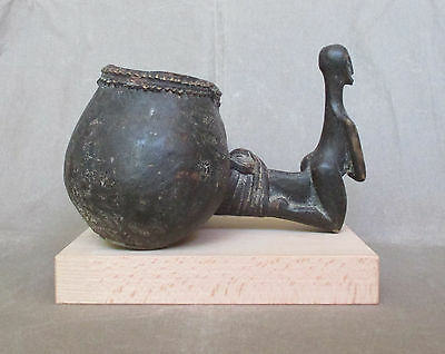 Rare Old HEMBA LUBA Ritual Double Cup Container - CONGO - early 1900