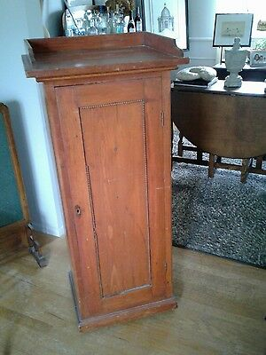 Cabinet Case Storage Record  Vintage Wood Casters