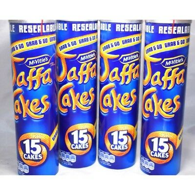 Jaffa Cakes 4 x 15 cake resealable tubes Authentic Mcvities NEW FRESH cheapest!!
