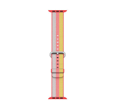 Genuine Apple Woven Nylon Band for Apple Watch 38mm (Red Stripe) -New Other!