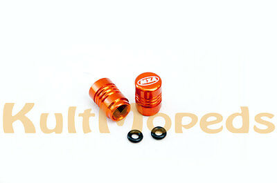 Valve Caps Dust Cap Car Motorcycle VW Vauxhall BMW Honda Suzuki Valve Orange
