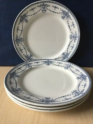 Set Of 4 Losol Ware Bowness Vintage Side Plates 20cm Blue & White