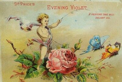 Steele & Price Perfumers & Extracts Cherub Rose-Chariot Tied To Butterflies P51