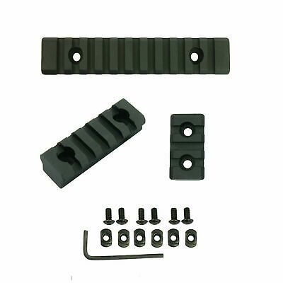 "M-Lok 3 5 11 Slot Picatinny/Weaver Rail Section Aluminum 1.5"" 2.5"" 5"" - 3 PCS"