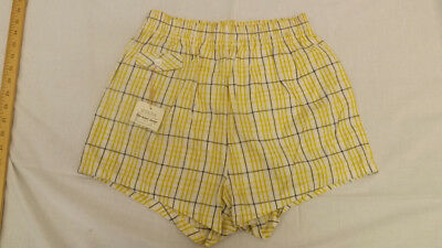 Vtg 60s NOS McGregor Plaid Swin Suit sz 34 Board Trunks NEW Sun Burst Boxers