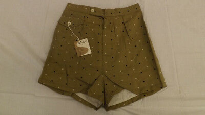 Vtg 60's NOS Men's Atomic Print Swim Suit sz Small Board Trunks NEW Zipper Front