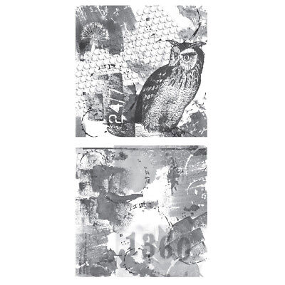 Tattered Angels Mixed Media Origins Double-Sided Paper 12x12-Hoot MXM-23247