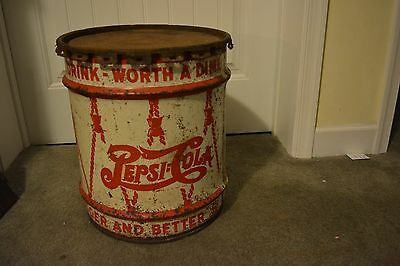 Vintage Pepsi 10 Gallon Syrup Can With Original Lid