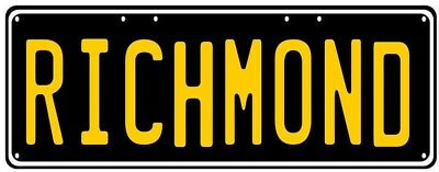 Richmond Number Plate - Great For Bar Garage Gift Man Cave Tigers Premiers