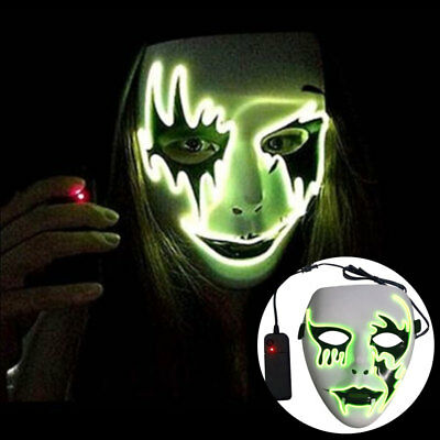 Halloween Luminescent Mask Masquerade Party Cosplay Props Street Dance Mask Cool