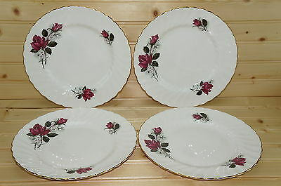 Royal Tuscan Rose (4) Salad Plates 8 3/8""