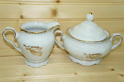 Tienshan Gabrielles Christmas Creamer & Sugar Bowl with Lid