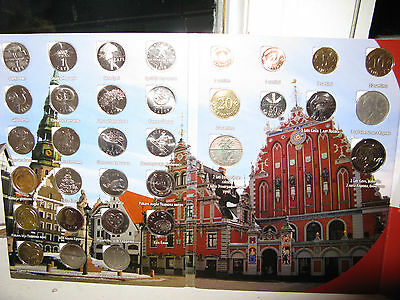 Latvia PRE-EURO 1992-2013 Full Collection SET 3 coins Fish,2 Cow to Parity
