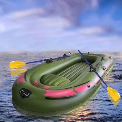 PVC Inflatable Boat Rubber Boat for River Stream Lake Fishing 4 Persons Sports