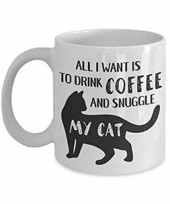 Cat Coffee Mug Gifts for Kitten Lovers Kitty Cup