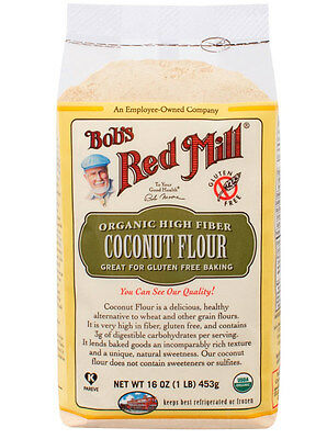 Organic High Fiber Coconut Flour Gluten Free 16 oz (453 g), Bob's Red Mill