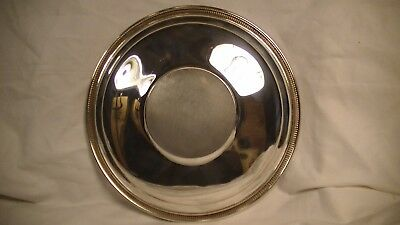 "Gorham Sterling Silver Sandwich Plate 20th Century, #143  9 3/4"" Gadrooned rim"
