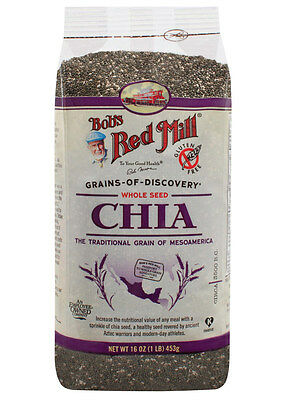 Whole Seed Chia 16 oz (453 g), Bob's Red Mill