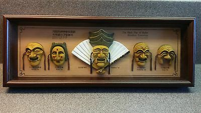Mask Play Of Hahoe Byeolsin Exorcism Korea Framed Shadowbox