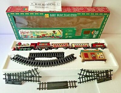 New Bright Harris Holiday Village Express Battery Op Musical Train Sound Effects