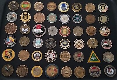 48 Coins Challenge Coin lot set Collection Military NO DUPLICATES See ALL Pics