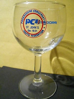 NEWFOUNDLAND, PC,POLITICAL CONVENTION,WINE GLASS,Youth Federation 1990