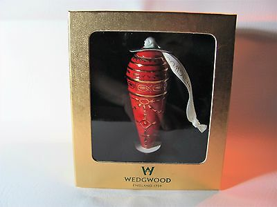 Wedgwood Ruby Icicle Ornament--New In Original Box