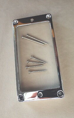 TALL Arched LP METAL HUMBUCKER PICKUP RING SURROUND MIGHTY MITE CHROME Les Paul