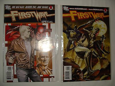 Lot 2 First Wave 1 + Special - Batman, Doc Savage, Justice Inc - Azzarello - Nm