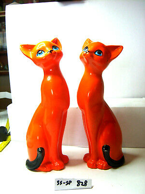 orange cats  salt and pepper shakers