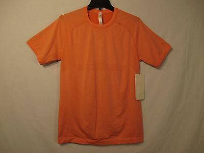 Lululemon Athletica Orange Short Sleeve Nylon Blend Top - Size S - NWT