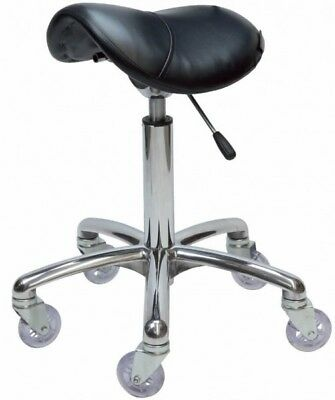 NEW Saddle Stool Chrome Base suitable for Hair Dressing Salon & Barber Shop