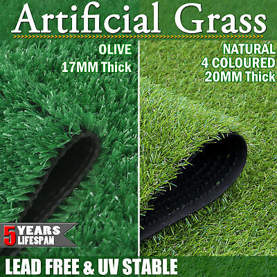 Artificial Grass 10 20 SQM Synthetic Turf Plastic Olive Plant Fake Lawn Flooring