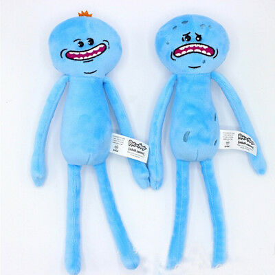 NEW Rick And Morty Mr Meeseeks Happy & Sad Face Stuffed Plush Doll Soft Toy Gift