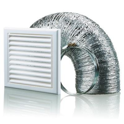 Blauberg UK BB-CHK-100-3-VSWH 100 mm Cooker Hood Duct Vent Kit Fan Extractor - W