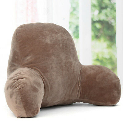 Plush Lounger Back Pillow Bed Rest Support Arm Backrest Cushion Office Travel AU