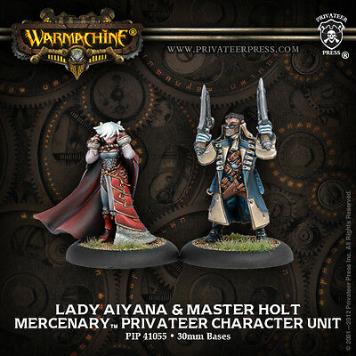 Warmachine Mercenary Warcaster Privateer Lady Aiyana and Master Holt